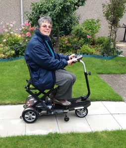 Despite living with Parkinson's, Janet Murray, continues to volunteer at The Buckie and District Fishing Heritage Centre thanks to the revolutionary new TGA Minimo mobility scooter.